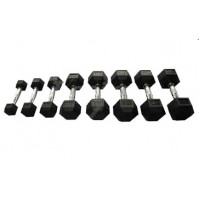 Hex Rubber Dumbbell TS4022 - Tecnopro