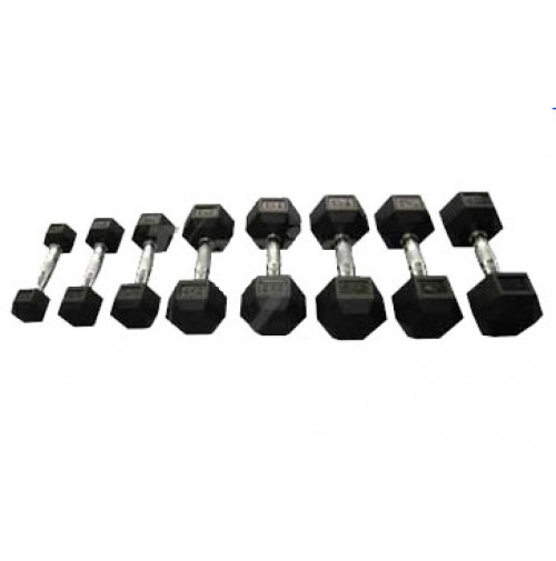 Hex Rubber Dumbell TS4022 - Tecnopro