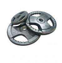 Black Rubber Olympic Plate with Hand Grip TS4110 - Tecnopro