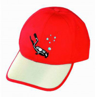 Red and Beige Cap  - CAP-I4 - IST