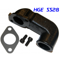 Water Connector for Volvo Penta Exhaust Elbow, fits Volvo Penta Diesel models AQAD40, AQAD40B, TAMD40A, and TAMD40B- 845528- HGE5528 - HGE