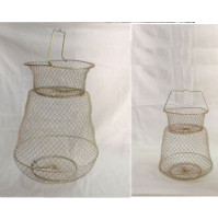 Galvanized Wire Fish Basket - WB002517X - AZZI Tackle