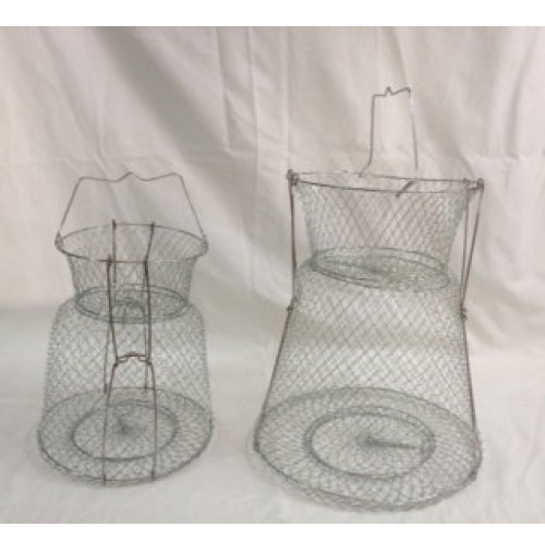 Stainless Steel Wire Fish Basket with support - WB002517SSSUX - AZZI Tackle