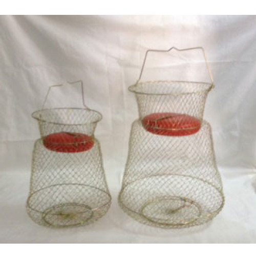 Floatable Galvanized Wire Fish Basket - WB002517FX - AZZI Tackle