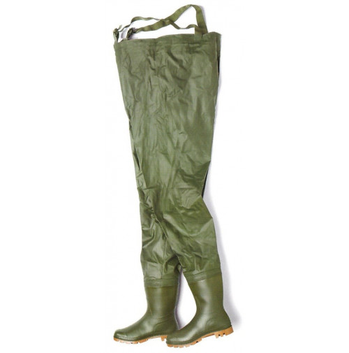 Farmer PVC Rain Boots + Salopette Green Color - RB0112424X - AZZI Tackle