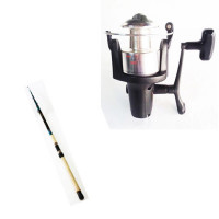 """Telescopic Carbon """" YUKON Composite 60 """" Rod and LTi 480 FD Reel Combo - 2255-380 + 1121-480 - D.A.M"""