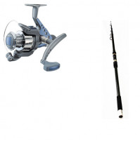"Telescopic Carbon "" SPEZI Composite Tele Surf "" Rod and Space 480 FD Reel Combo - 2445-390+1156-480 - D.A.M"