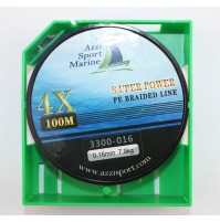 Super Power 100% Braided Line 4X, 100 Meter Forest Green colors - 3300-014X - AZZI Tackle