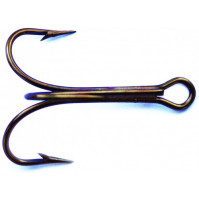 Classic Treble Standard Strength Hook -  25 pieces in Plastic Box - 6100BR - AZZI Tackle