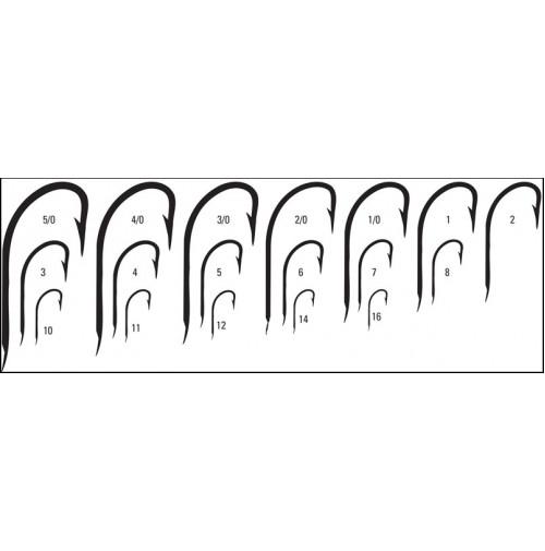 crystal hook standard strength hook - 515ni - 50 pieces in plastic box